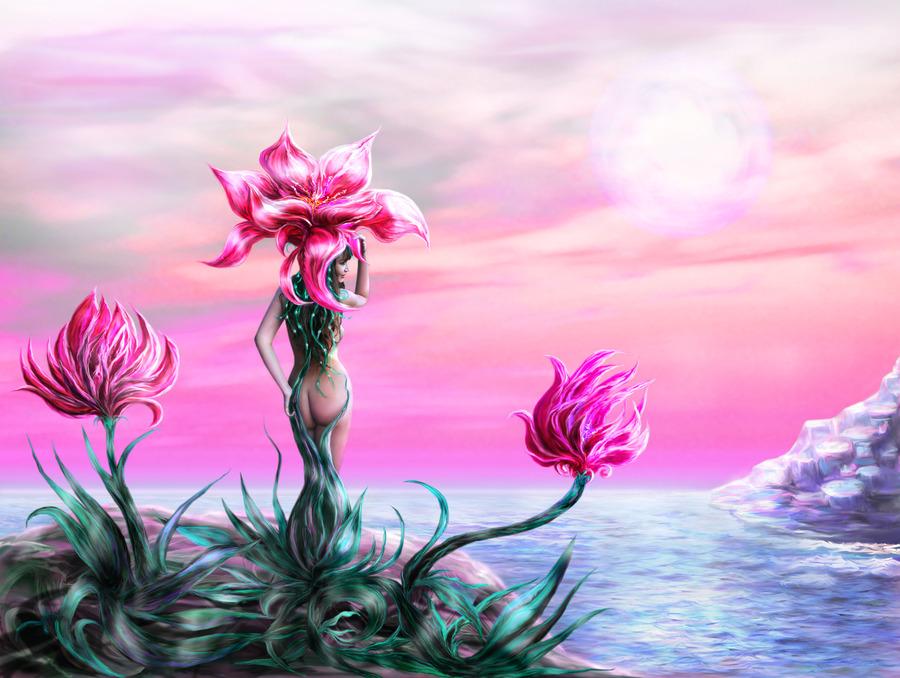 Рисунки фантастическое растение