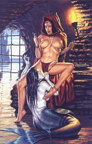 рисунки фэнтези эротические